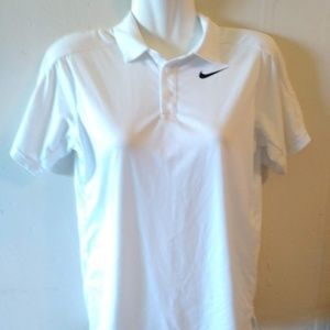 New white top Polo shirt Dri-fit S Medium